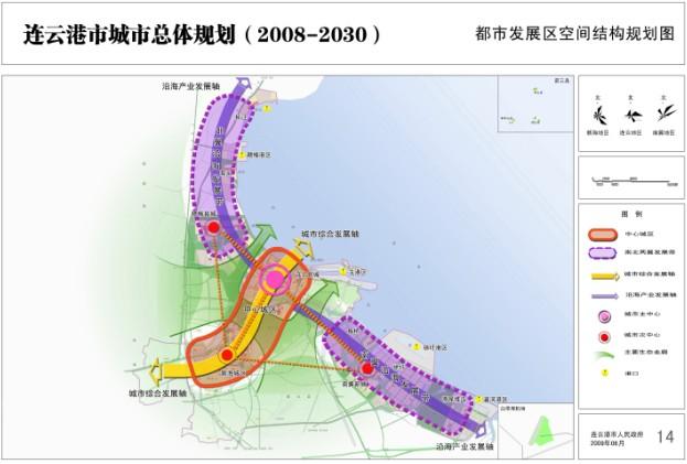 都市发展区空间结构规划图