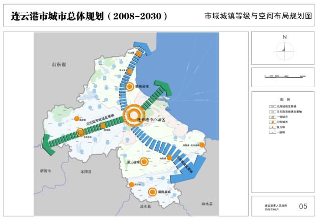 市域城镇等级与空间布局规划图